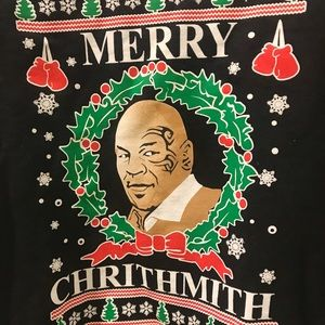 sweaters mike tyson merry chrithmith christmas sweater